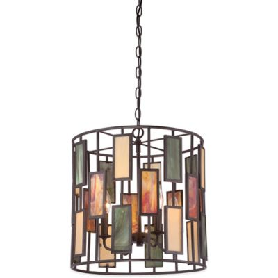 Quoizel Tiffany Lennon 4-Light Pendant in Bronze