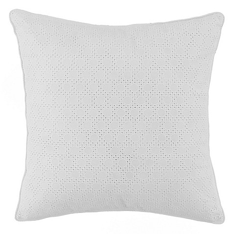 White Throw Pillows Bed : Anthology Tyler Square Throw Pillow in White - Bed Bath & Beyond