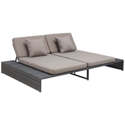 Zuo® Delray Reclining Loveseat in Espresso