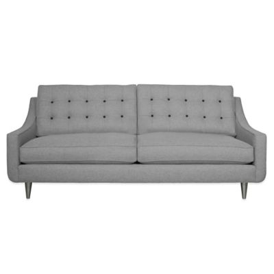 Kyle Schuneman for Apt2B Cloverdale Sofa in Grey with Sprite Button Tufting
