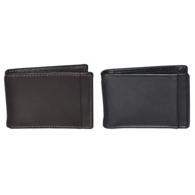 Dopp Leather Regatta Front Pocket Clip Flip in Black