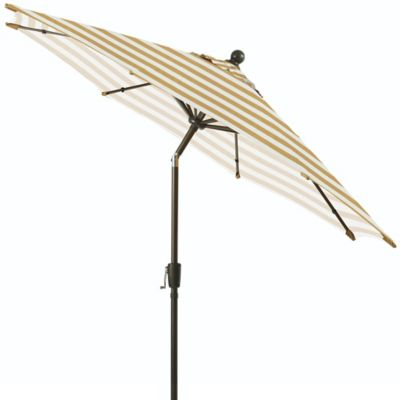 Tan Stripe Patio Umbrella