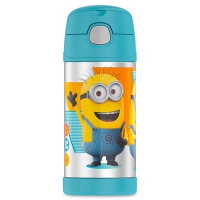 Blue Yellow Beverage Bottle
