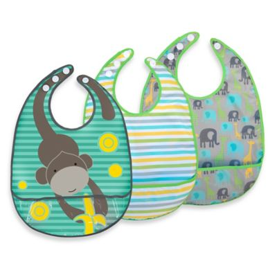 JJ Cole® 3-Pack Safari Bibs