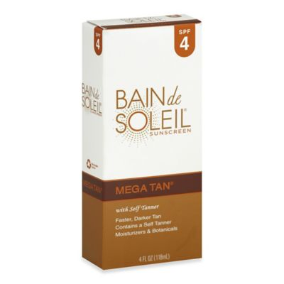 Bain de Soleil® Mega Tan® 4 oz. Sunscreen With Self Tanner SPF 4