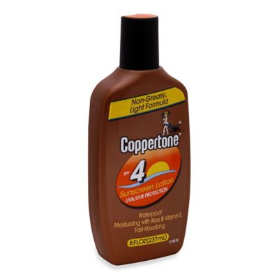 Coppertone® 8 oz. Tanning Lotion Sunscreen SPF 4