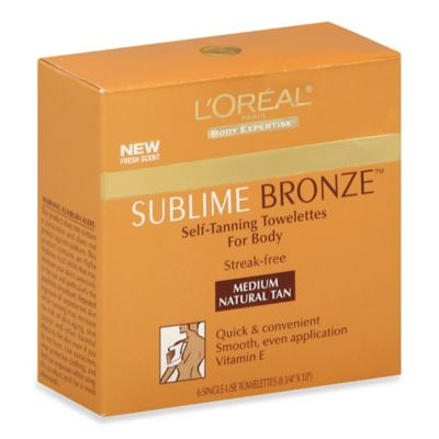 L'Oreal® 6- Count Sublime Self-Tanning Towelettes in Medium