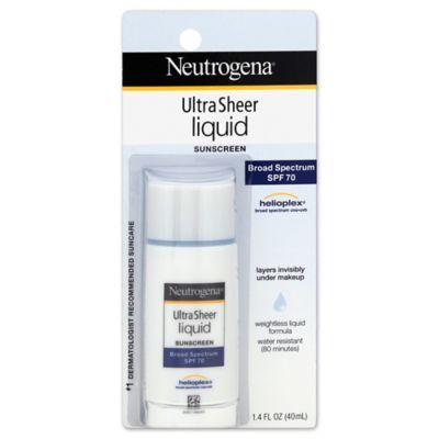 Neutrogena® 1.4 oz. Ultra Sheer Liquid Daily Sunscreen Broad Spectrum SPF 70