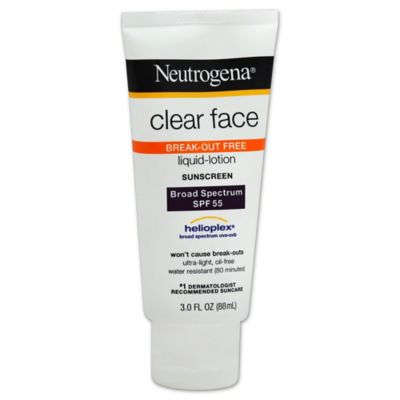 Neutrogena® 3 oz. Clear Face Liquid Lotion Sunscreen SPF 55