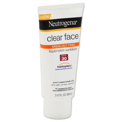 Neutrogena® 3 oz. Clear Face Liquid Lotion Sunscreen SPF 30