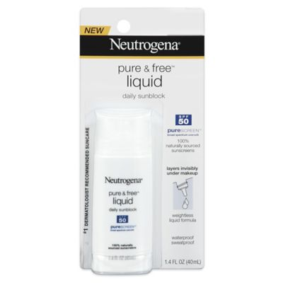 Neutrogena® Pure & Free™ 1.4 oz. Liquid Sunscreen SPF 50
