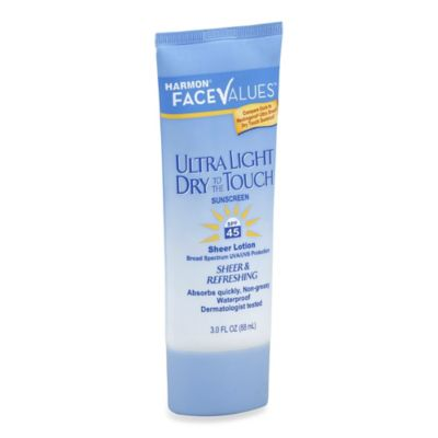 Harmon® Face Values™ 3 oz. Ultra Light Dry to the Touch Sunscreen Lotion SPF 45