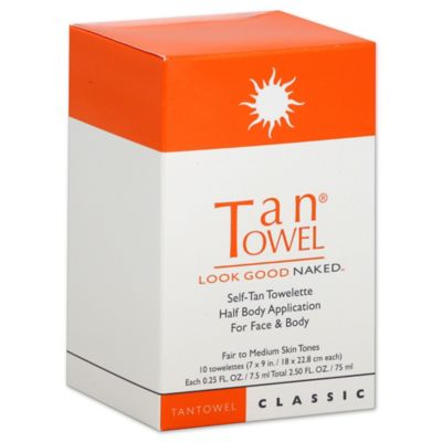 Tan Towel® 10-Pack Half Body Classic Self-Tan Towelettes