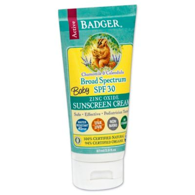 Badger® Baby 2.9 oz. Broad Spectrum Zinc Oxide Sunscreen Cream SPF 30