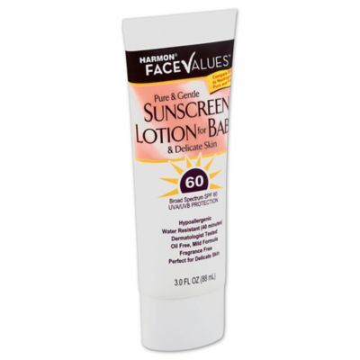 Harmon® Face Values™ 3 oz. Pure and Gentle Sunscreen Lotion for Baby SPF 60