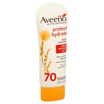 Aveeno® 3 oz. Protect + Hydrate Lotion Sunscreen with Broad Spectrum SPF 70