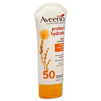 Aveeno® 3 oz. Protect + Hydrate Lotion Sunscreen with Broad Spectrum SPF 50