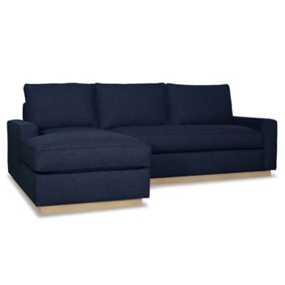Kyle Schuneman for Apt2B Harper 2-Piece Left Arm Facing Sectional with Natural Base in Baltic