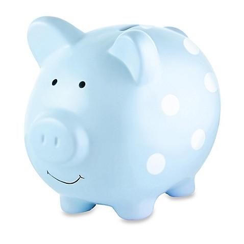 Piggy Banks Gt Pearhead Large Ceramic Polka Dot Piggy Bank
