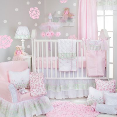 Glenna Jean Secret Garden 3-Piece Crib Bedding Set