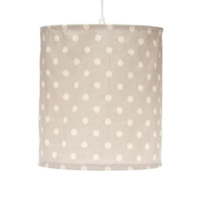 Glenna Jean Harper Hanging Dot Drum Shade Kit in Grey/Cream
