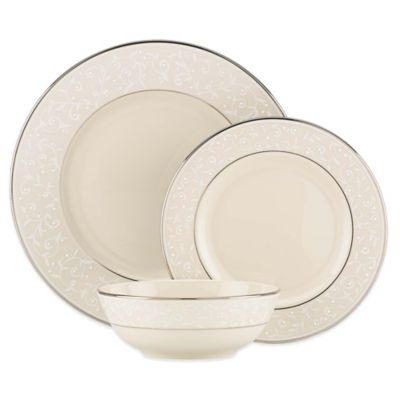 Lenox® Pearl Innocence™ 3-Piece Place Setting in White/Platinum