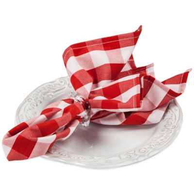 Riegel® Premier Napkins in Red Check (Set of 6)