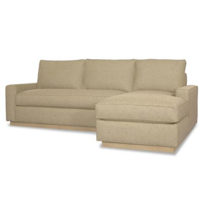 Kyle Schuneman for Apt2B Harper 2-Piece Right Arm Facing Sectional with Natural Base in Chromium
