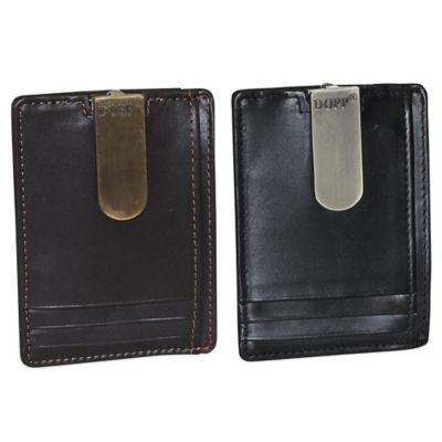 Leather Money Clip with ID Window