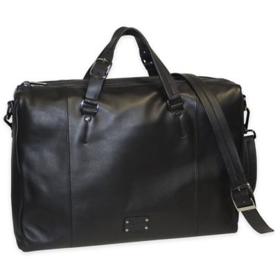 Dopp Gear Leather Bag Briefcase in Black