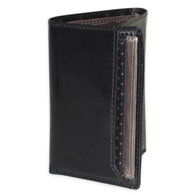 Dopp® Alpha 4.5-Inch Blocking ID Three-Fold Wallet in Black