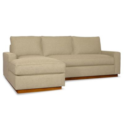 Kyle Schuneman for Apt2B Harper 2-Piece Left Arm Facing Sectional with Pecan Base in Baltic