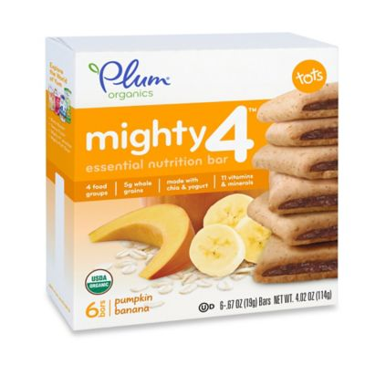 Food > Plum Organics® Tots Mighty 4™ 6-Pack Pumpkin Banana Essential Nutrition Bar
