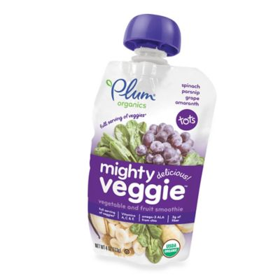 Food > Plum Organics® Tots Mighty Veggie™ 4 oz. Spinach, Parsnip, Grape, Amaranth Smoothie