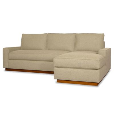 Kyle Schuneman for Apt2B Harper 2-Piece Right Arm Facing Sectional with Pecan Base in Baltic