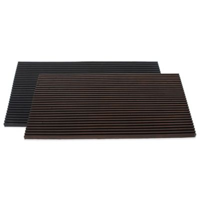 SLAT Door Mat in Brown