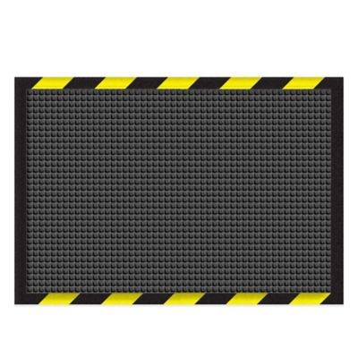 Weather Guard™ 3-Foot x 6-Foot Garage Mat in Charcoal with Striped Border