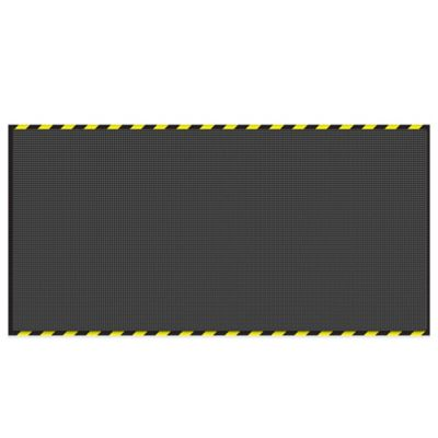 Weather Guard™ 6-Foot x 12-Foot Garage Mat in Charcoal with Striped Border