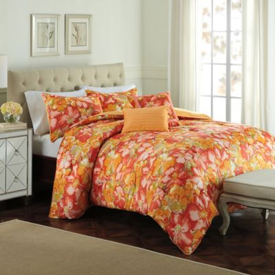 Raymond Waites Modern Floral Queen Duvet Cover Set
