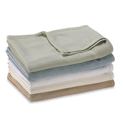 Nautica® Twill Cotton Twin Blanket in Pool