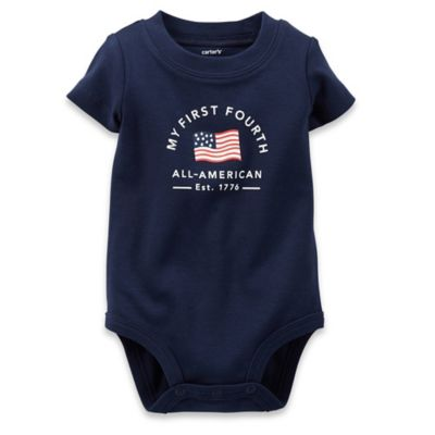 "Carter's® Size 3M ""My First Fourth"" Bodysuit in Navy"