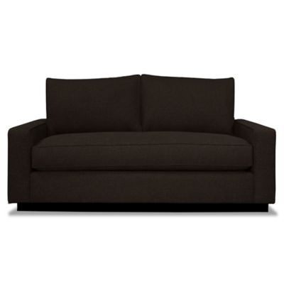 Kyle Schuneman for Apt2B Harper Mini Apartment Sofa with Black Base in Espresso
