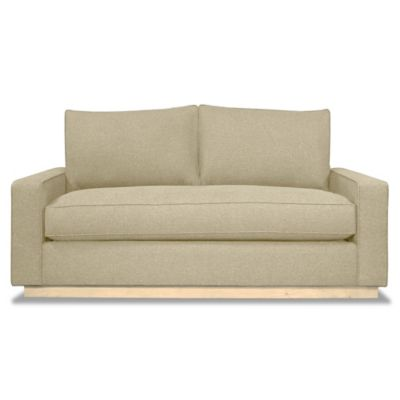 Kyle Schuneman for Apt2B Harper Mini Apartment Sofa with Natural Base in Espresso