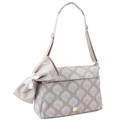 Mud Pie Bundle of Joy Jaipur Messenger Diaper Bag in Tan