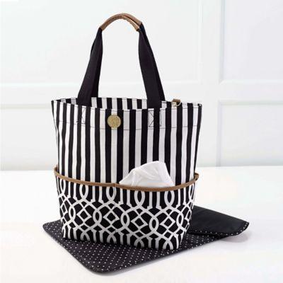 Mud Pie® Bundle of Joy Big Bundle On-the-Go Tote Diaper Bag in Black
