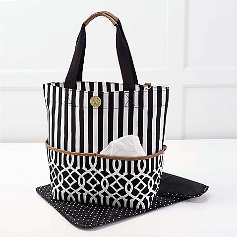 buy mud pie bundle of joy big bundle on the go tote diaper bag in black from bed bath beyond. Black Bedroom Furniture Sets. Home Design Ideas