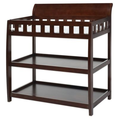 Delta Bentley™ Hardwood 2-Shelf Changing Table in Black Cherry Espresso