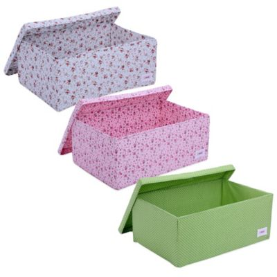Minene Dots Big Storage Box in Pink