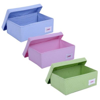Minene Stars Small Storage Box in Fuchsia