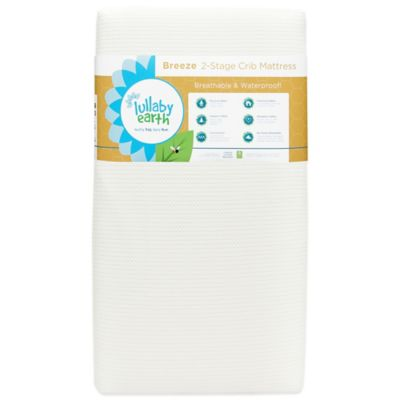 Lullaby Earth® Breeze™ 2-Stage Crib Mattress in White